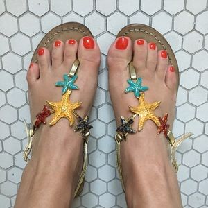 Capri Italian Hand Made Starfish Sandals